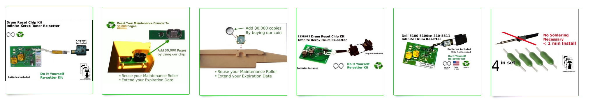 Printer and Copier Reset Kits for Ink, Toner, Fusers, Drums